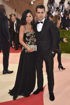 """Colin Farrell and Claudine Farrell attend the """"Manus x Machina: Fashion In An Age Of Technology"""" Costume Institute Gala at Metropolitan Museum of Art on May 2, 2016 in New York City."""