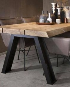 Industrial dining furniture - Wonderful Contemporary Dining Room Decorating Ideas To Try – Industrial dining furniture Furniture Sets Design, Dining Furniture Sets, Industrial Design Furniture, Industrial Dining, Modern Industrial, Wooden Furniture, Vintage Industrial, Kitchen Furniture, Office Furniture