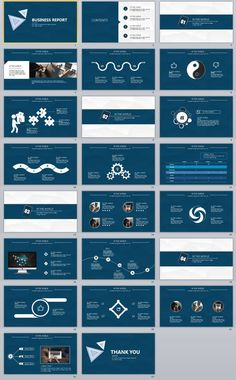 23+ blue business report PowerPoint templates