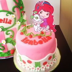 Strawberry Shortcake cake (www. Strawberry Shortcake Birthday, Cake Creations, No Bake Cake, Baked Goods, Cake Decorating, Party Ideas, Cakes, Baking, Desserts