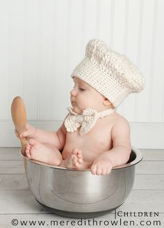 chef, Reminds me of when my own son sat in our soup pot...... a long, long time ago, but still brings smiles when I think about it!