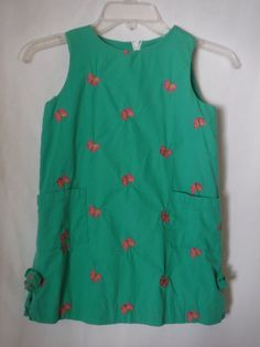 Lilly Pulitzer Green Sz 6 Girls Lined Sleeveless Butterflies Summer  #LillyPulitzer #Dress #EverydayHolidayParty
