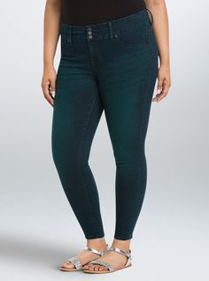 Torrid Jeggings - Hypnotic Sea Wash | Torrid