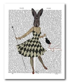 This Bunny Ballerina Wrapped Canvas is perfect! #zulilyfinds