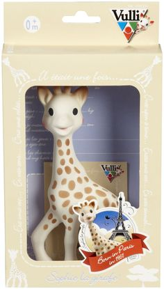 Vulli Sophie the Giraffe Teether in Natural Rubber. Baby-approved as one of the best toys EVER.