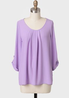 Marlene Roll-tab Blouse In Lavender at #Ruche @shopruche