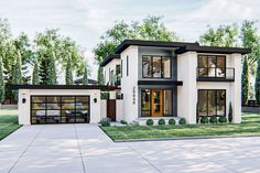 Plan Gorgeous Modern Style 2 Story Home Plan With Upstairs Family Room Style At Home, Contemporary House Plans, Modern House Floor Plans, Large House Plans, House Plans 2 Story, Sims House Design, 2 Story House Design, Verona, Modern Exterior House Designs