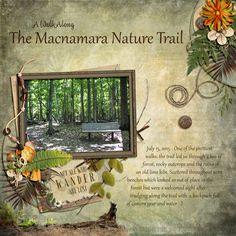 """Macnamara Nature Trail. Created using """"Nature Hike Collection"""" by Snickerdoodle Designs. #theStudio #digitalscrapbooking"""
