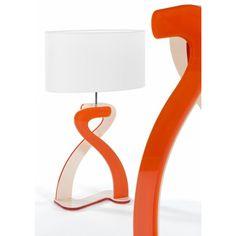 Lampe SALLY en plexi bi-couches blanc-orange avec abat jour ovale. Design par Olivier Toulouse. http://www.ag-products.fr/fr/592-lampe-sally-.html