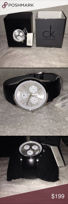 CK men's watch Beautiful watch for all occasions. Still with tag, have had it for some time and therefore battery will need to be replaced but besides that never truly wore it! Calvin Klein Accessories Watches