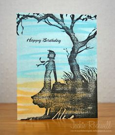 One-Layer Silhouette Card