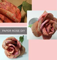 Amazing paper rose tutorial with gorgeous photos at savedbylovecreati...