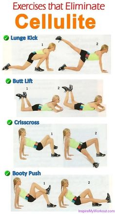 Exercises that Eliminate Cellulite FREE Printable : great alternative to squats!