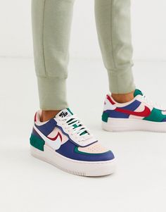 Nike navy and pink Air Force 1 Shadow sneakers Nike Air Force Black, Nike Air Force 1 Outfit, Nike Shoes Air Force, Nike Air Force Ones, Sneakers Fashion, Fashion Shoes, Sneakers Nike, Nike Fashion, Zapatillas Nike Air Force