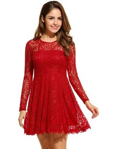 Mini Kleid Spitzeblau rot 32 34 36 38 XS S M Abendkleid Spitzenkleid