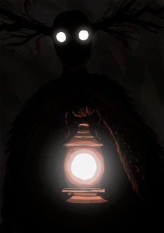 """Never look deep into the Unknow of the Beast"" Fanart of Over the Garden Wall."