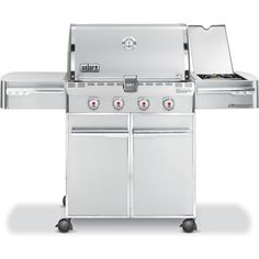 Weber Summit S-420 Propane Gas Grill On Cart With Side Burner
