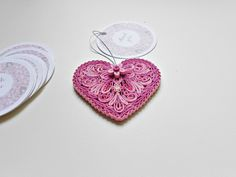 Quilled Thank you heart