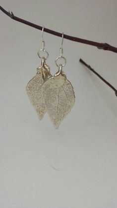 Items similar to Real handpicked leaf earrings that are painted and then sprayed with 24 carot gold. on Etsy Leaf Earrings, Eye Candy, Handmade Jewelry, Lovers, Beads, Silver, Gold, Pink, Etsy