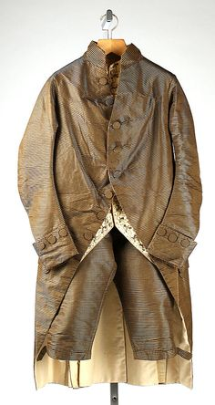Suit  Date:     late 18th century Culture:     probably French Medium:     silk Dimensions:     [no dimensions available] Credit Line:     G... Accession Number: C.I.66.1.2a–c