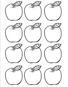 Littlest Learners: September--Lesson Three Preschool Labels, Preschool Apple Theme, Fall Preschool Activities, Apple Activities, Templates Printable Free, Printables, Apple Template, Apple Coloring Pages, September Preschool