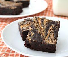 Peanut Butter Swirl Brownies  via @dreamaboutfood