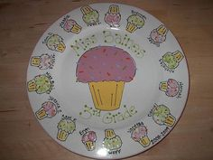 Cupcake fingerprint Platter by The Pottery Stop Gallery!, via Flickr