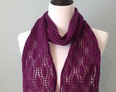 Blackberry Leaves Scarf Knitting Pattern