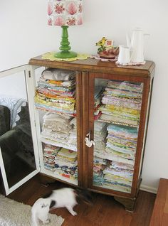 this could solve my fabric storage problem - beautifully