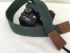 Softened Linen Faux Leather Camera Strap by Darby Mack DSLR | Etsy Leather Camera Strap, Camera Straps, Dslr Photography, Green And Brown, Pouch, Purses, Bags, Accessories, Etsy