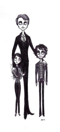 The Murder Family — Tim Burton style