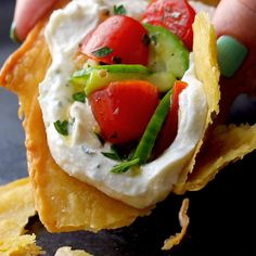 Socca with Whipped Feta and Tomato Salad! HELLO. Crispy, creamy, tangy, and summery all on one plate. Vegetarian Recipes, Cooking Recipes, Healthy Recipes, Vegetarian Lunch, Whipped Feta, Tomato Salad, Feta Salad, Vegan Dinners, Food Videos