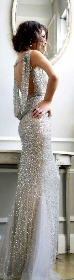2017 Custom Made Charming Sequins Prom Dresses,Sexy Backless Evening Dresses, Beading Prom Dresses,Sleeveless Evening Dress