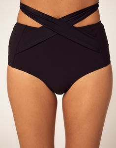 Mouille High Waisted Wrap Bikini Bottom. .Sale $50.89.