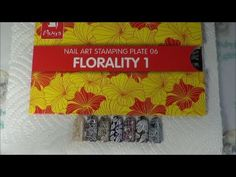 """Moyra Stamping Plate 06 """"Florality 1"""" Swatches"""