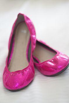 Hot Pink Bridal Ballet Flats