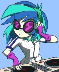 Play That Funky Music Vinyl by varemiaArt on DeviantArt My Little Pony Games, My Little Pony Characters, Mlp My Little Pony, My Little Pony Friendship, Rainbow Rocks, Rainbow Dash, Vinyl Scratch, Play That Funky Music, Comic Manga