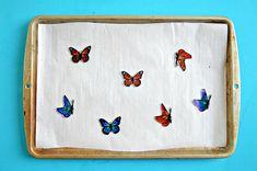 Shrink Plastic Butterfly Mobile | MyPrintly