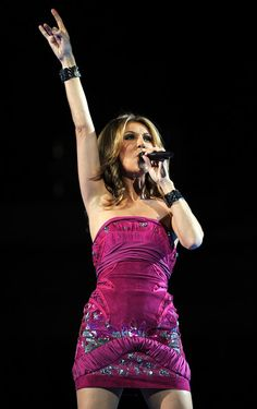 Another great dress...Celine Dion, love her style, & she is a shoe-girl like me..-Mari