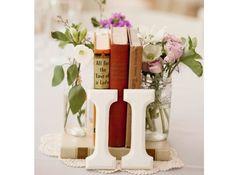 Centre table mariage livre