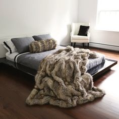 "Kitt Fox Faux Fur Full Throw Blanket 58"" x 84"" - TR Best Home Fashion,http://www.amazon.com/dp/B00997MLOS/ref=cm_sw_r_pi_dp_bv5Xsb1KYJHE1G83"