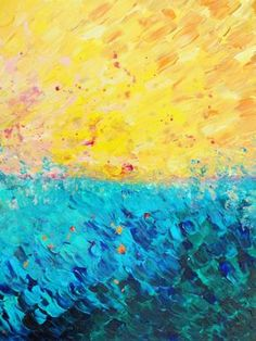 THE DIVIDE Fine Art Digital Print #Ocean #Beach by EbiEmporium, $28.00 #Colorful #Blue #Yellow #Abstract #Acrylic #Painting #Nautical #Coastal #Freedom #Summer #Waves #Bold #Brushstrokes #Painterly #Home #Decor #Decorative #Decoration #Dorm #WallArt #Artwork #Affordable #Modern #Contemporary #Splash #Bright #Sunshine #Outdoors #Nature #Water #Royal #Midnight #Electric #Indigo #Turquoise #Lemon #Ochre #Textural #Vibrant #Chic #Minimal #Fun #Whimsical #FineArt