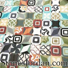 Handmade Cement tiles that could be customized upon customer request. Size, color and shape ..