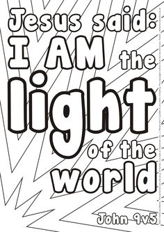 Awesome Jesus Is The Light Of The World Coloring Page Photos ...