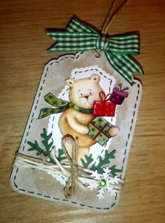 Kika's Designs : Gift Tag with Teddy