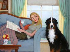 Momento de relax, momento de lectura (ilustración de Fred Calleri)