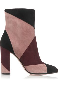 Gianvito Rossi Patchwork suede ankle boots NET-A-PORTER.COM