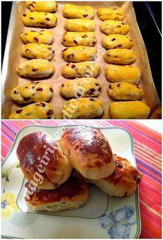 Γαλατοσταφιδόψωμα Greek Desserts, Greek Recipes, Food Network Recipes, Cooking Recipes, Armenian Recipes, Bread Bun, Sweet Pastries, Hot Dog Buns, Breakfast Recipes