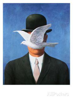 L'Homme au Chapeau Melon, c.1964 Impressão artística