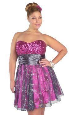 #plus size mesh glitter sequin #homecoming #dress  $82.50